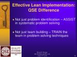 effective lean implementation qse difference28