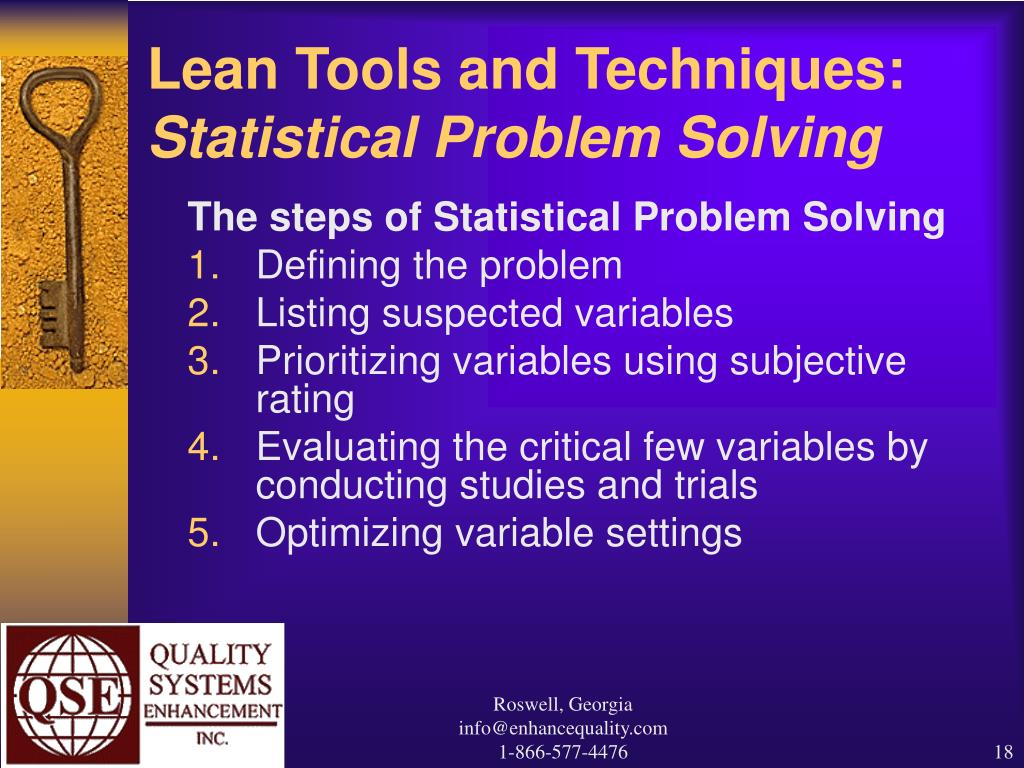 Lean Tools and Techniques:
