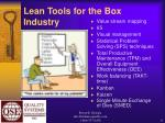 lean tools for the box industry