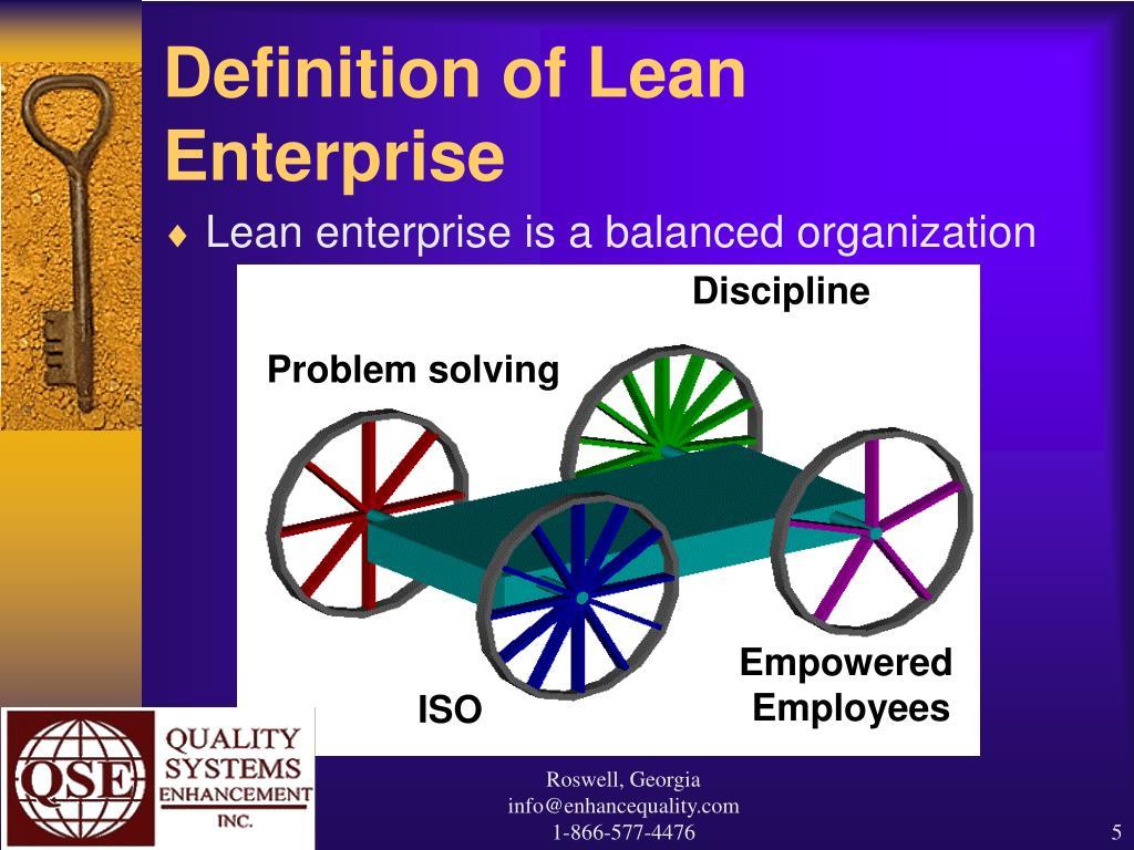 Definition of Lean Enterprise