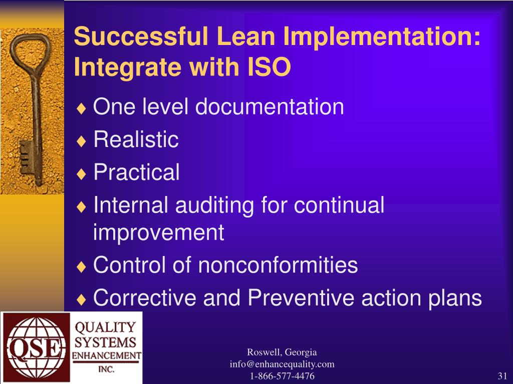 Successful Lean Implementation: Integrate with ISO