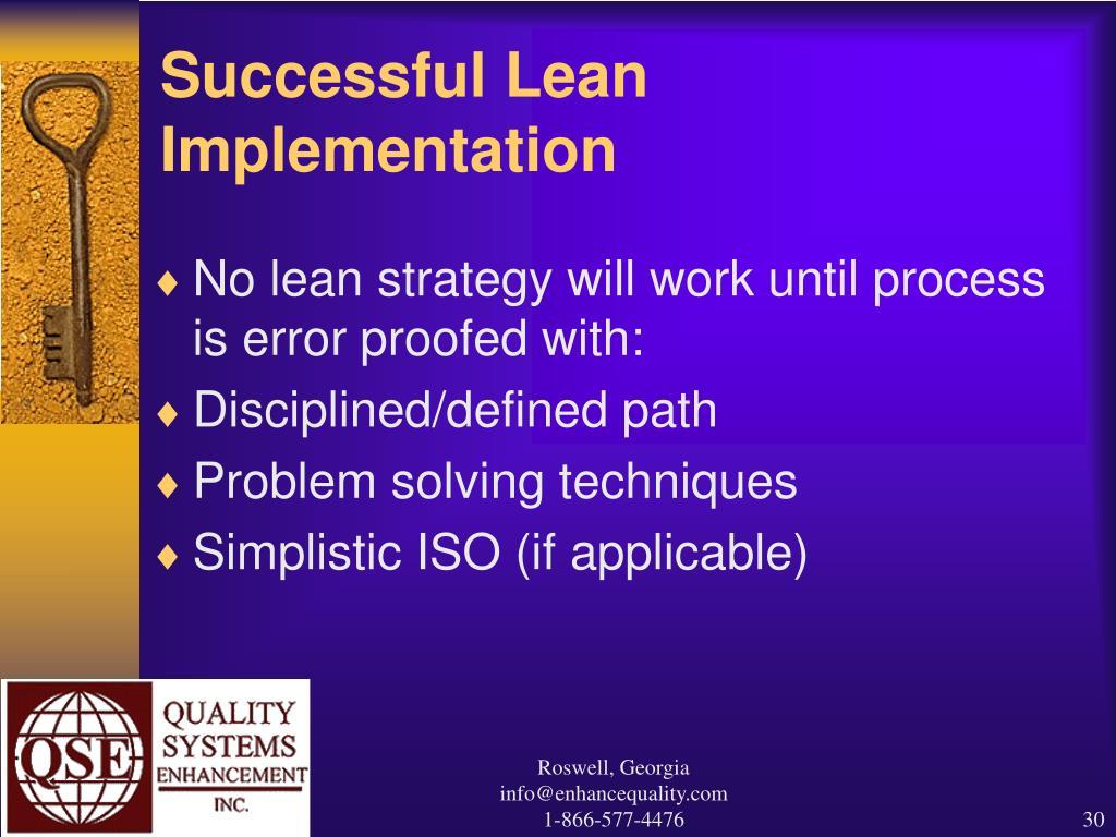 Successful Lean Implementation
