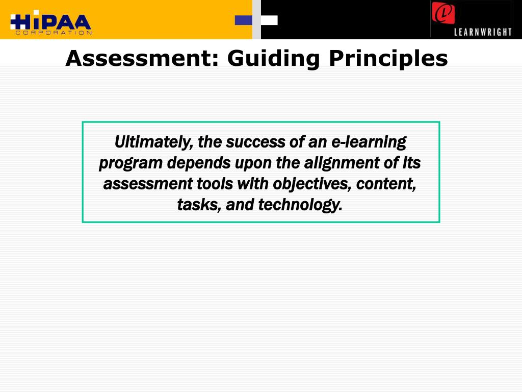 Assessment: Guiding Principles