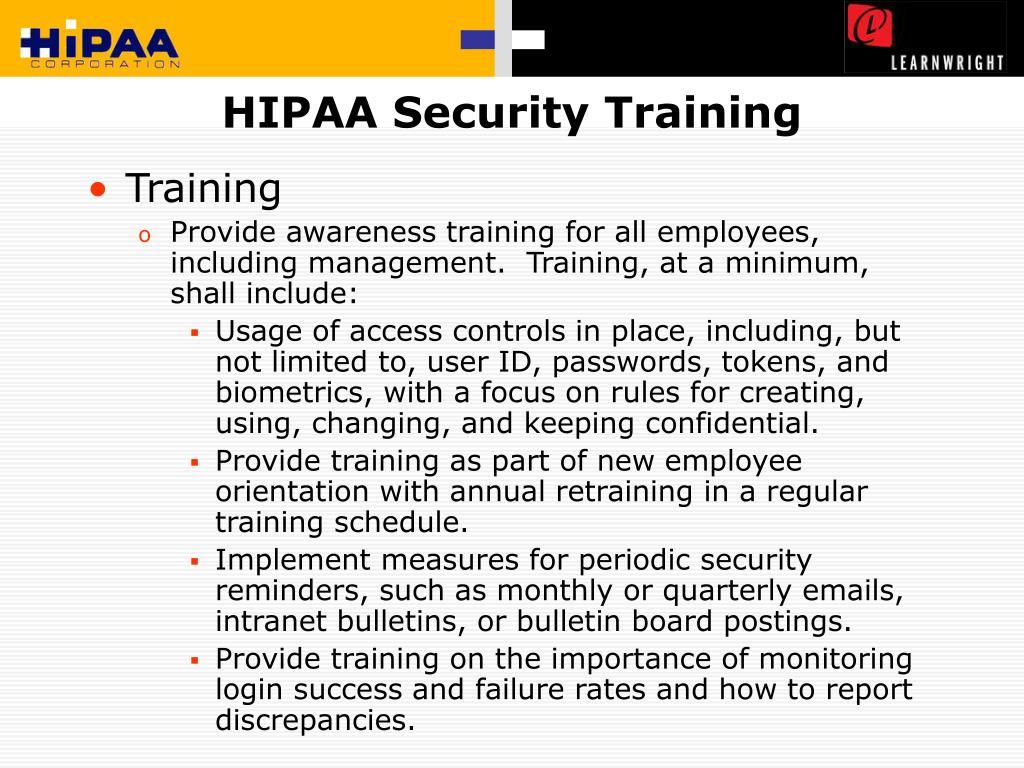 HIPAA Security Training