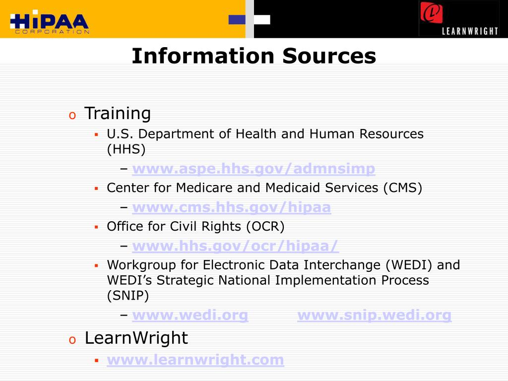 Information Sources