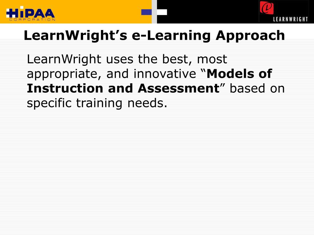 LearnWright's e-Learning Approach