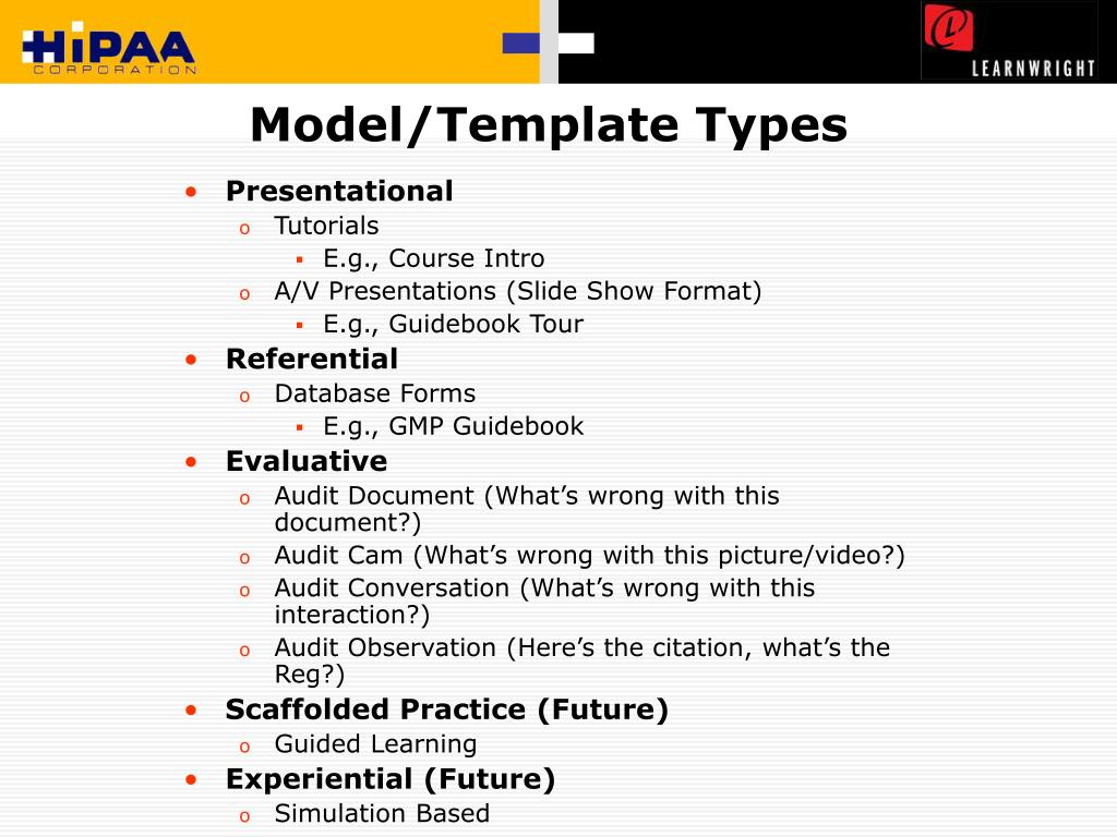 Model/Template Types