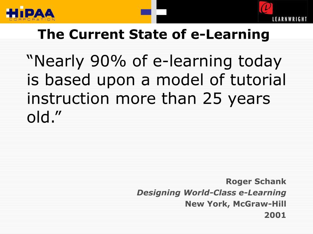 The Current State of e-Learning