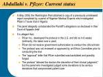abdullahi v pfizer current status38