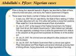 abdullahi v pfizer nigerian cases