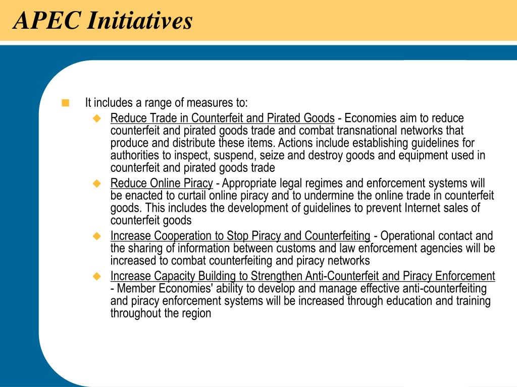 APEC Initiatives