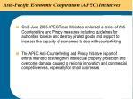 asia pacific economic cooperation apec initiatives