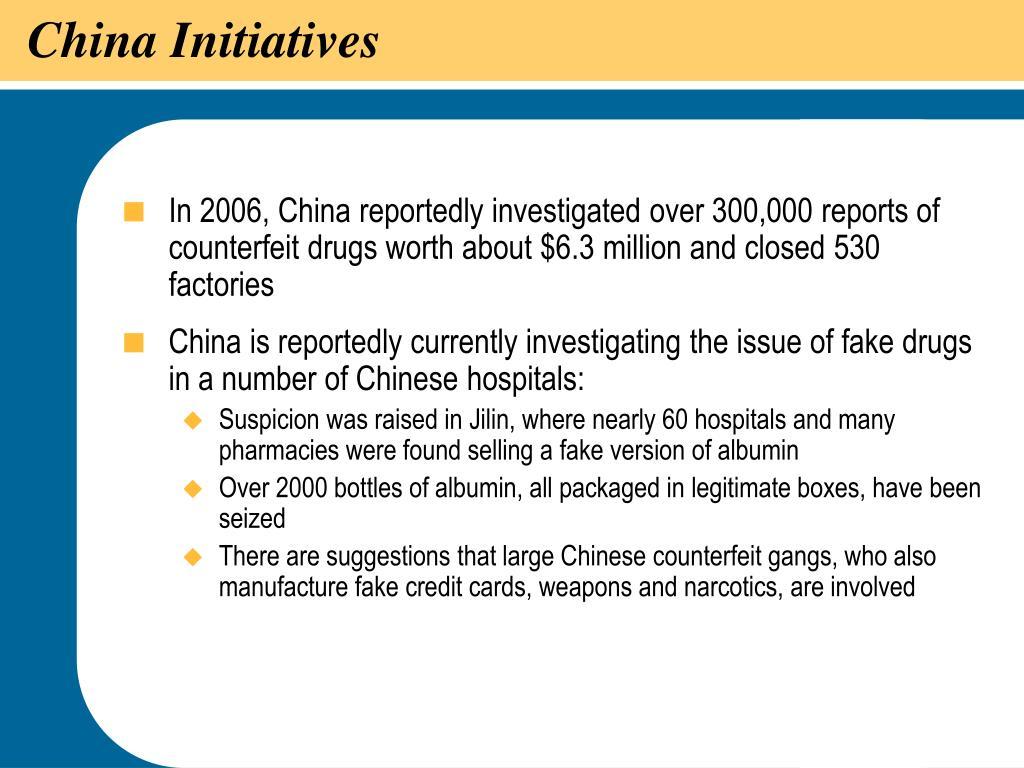 China Initiatives