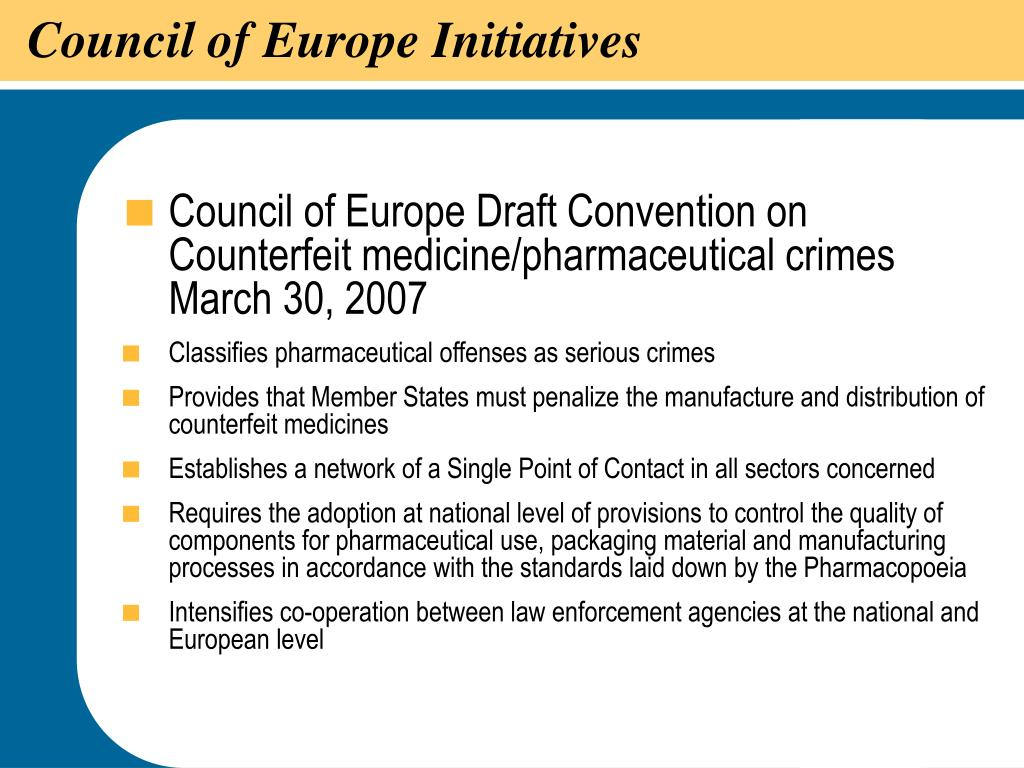 Council of Europe Initiatives
