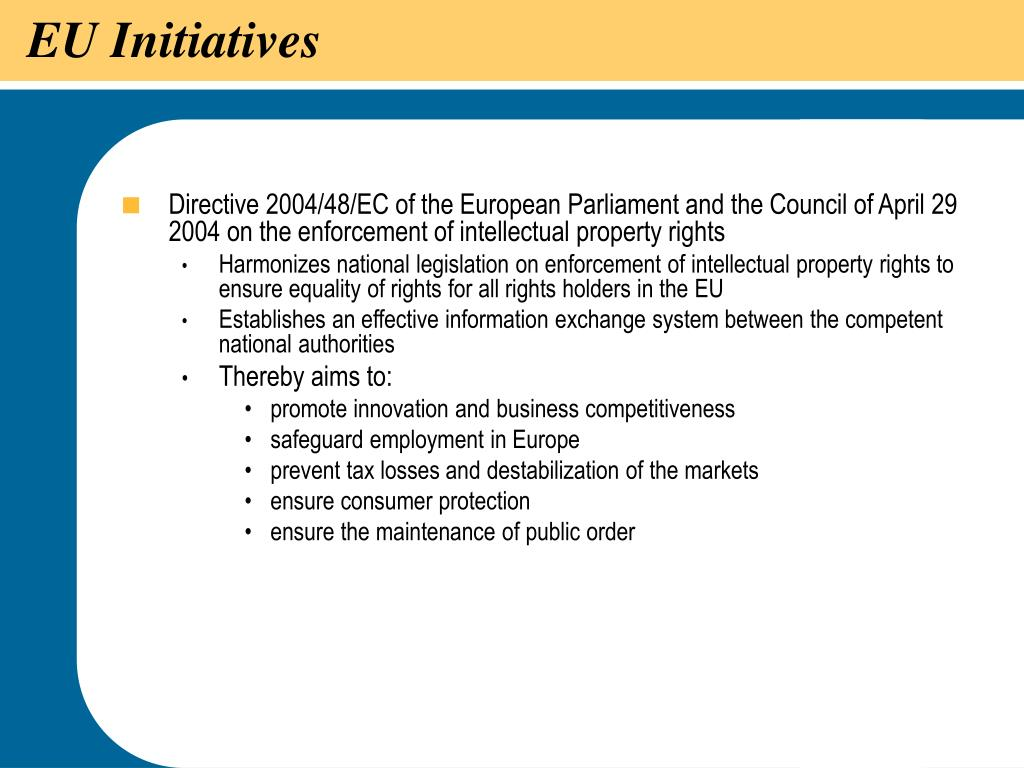 EU Initiatives