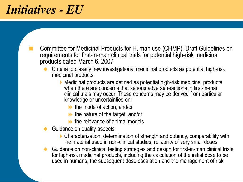 Initiatives - EU