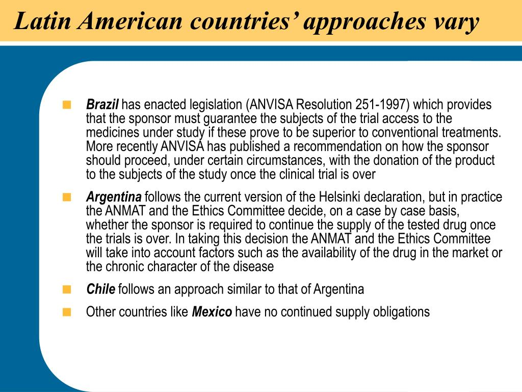 Latin American countries' approaches vary