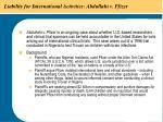 liability for international activities abdullahi v pfizer