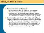 meds for kids benefits