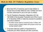 meds for kids eu pediatrics regulation issues