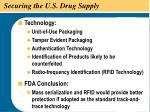 securing the u s drug supply