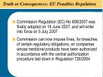 truth or consequences eu penalties regulation