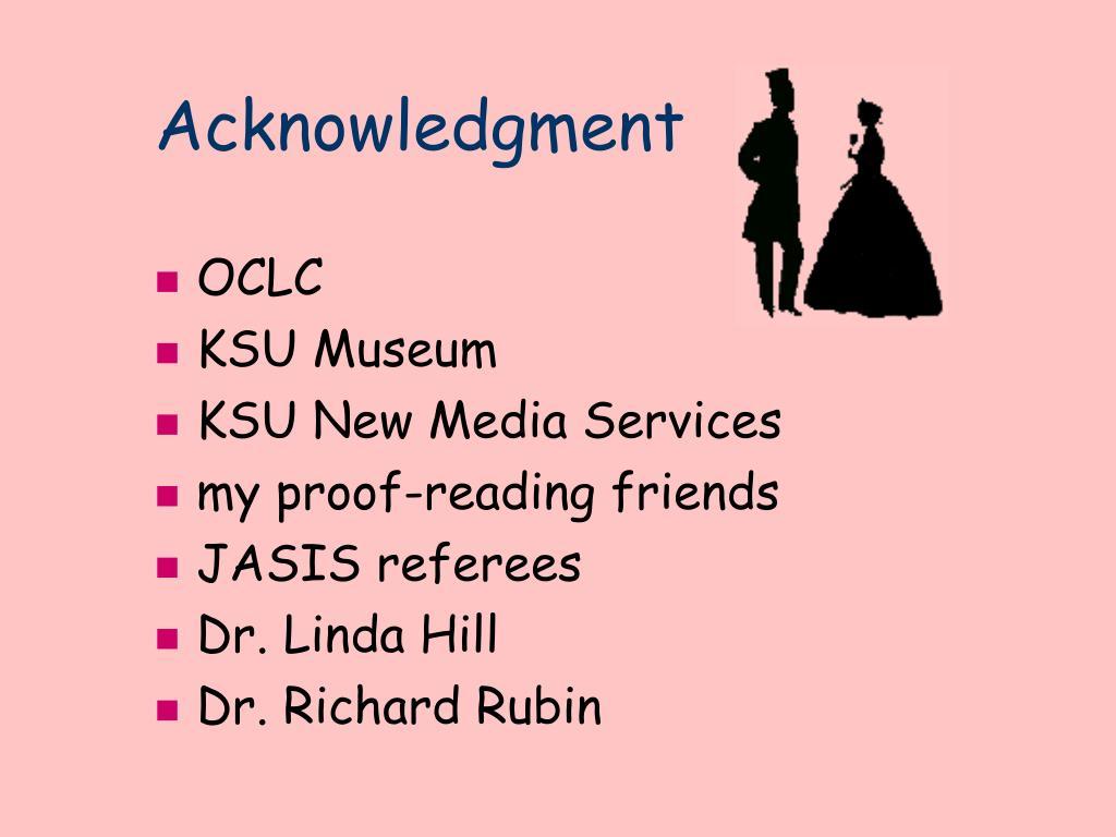 Acknowledgment