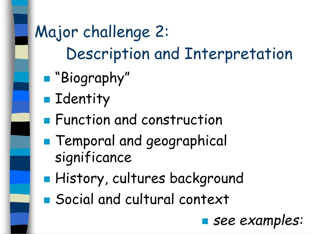 Major challenge 2:
