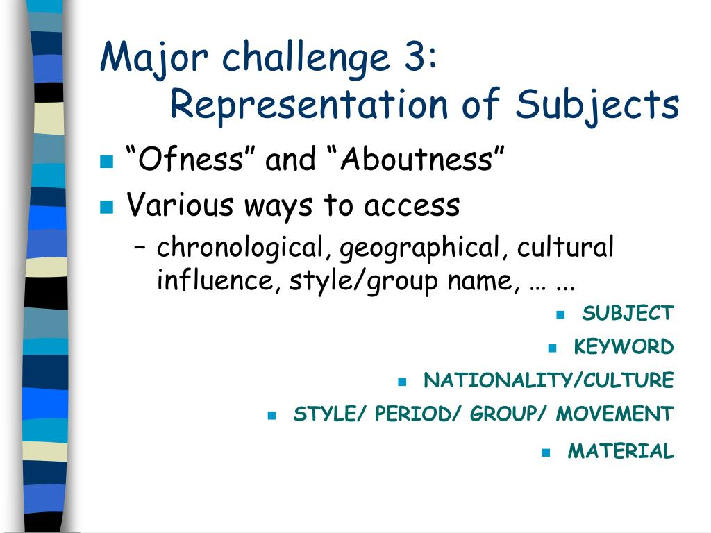 Major challenge 3: