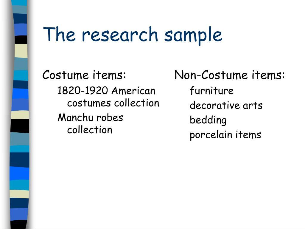 Costume items: