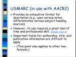 usmarc in use with aacr2