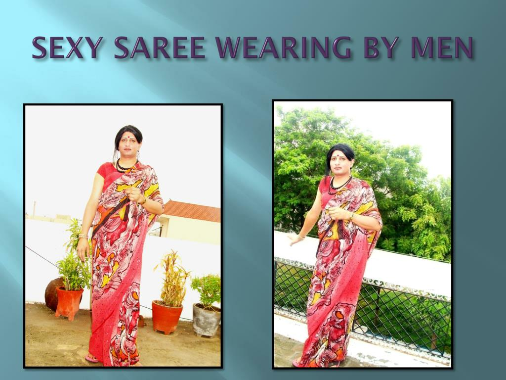 SEXY SAREE WEARING BY MEN