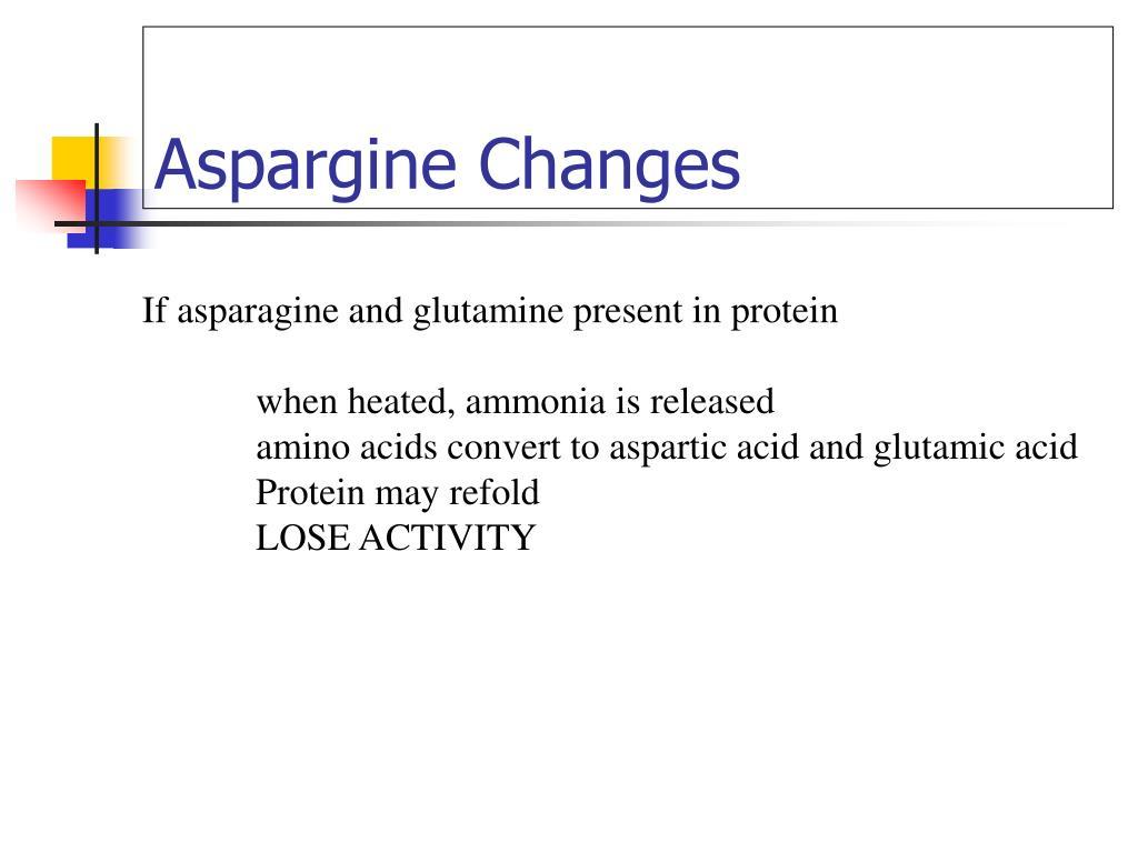 Aspargine Changes