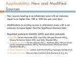 applicability new and modified sources
