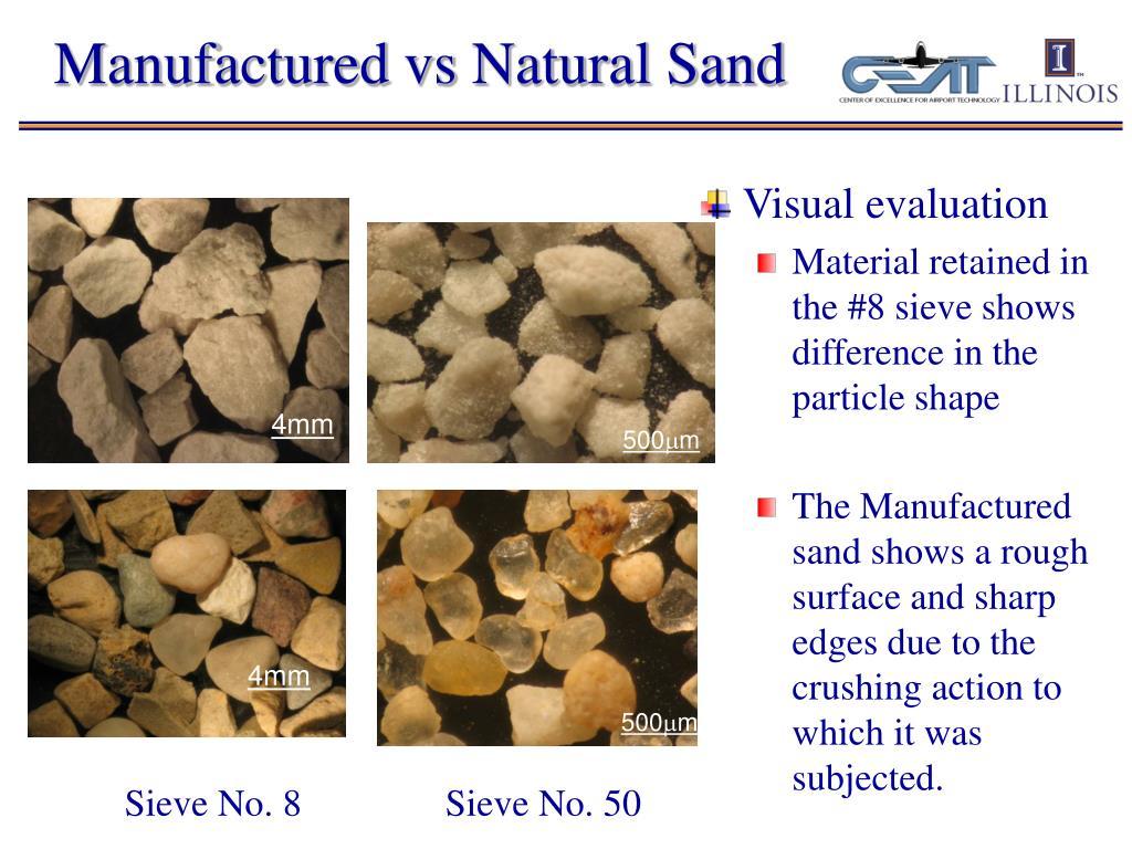Manufactured vs Natural Sand