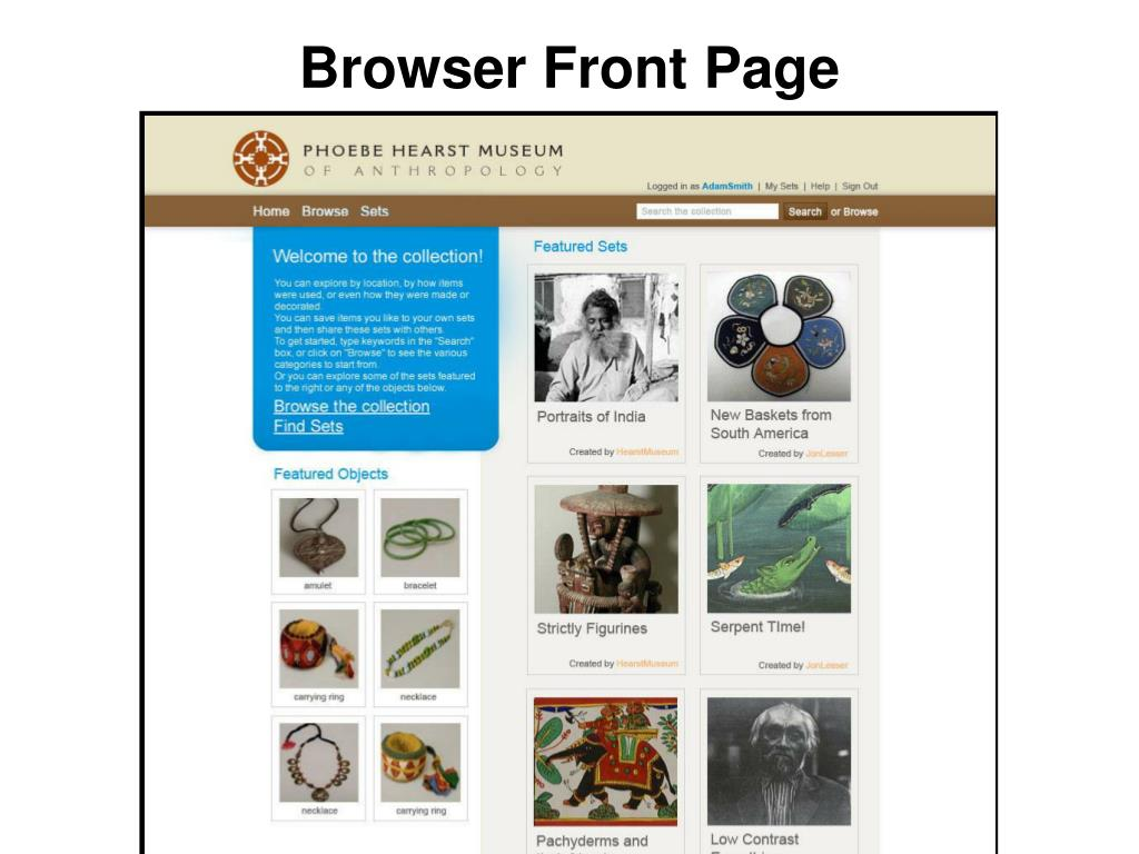 Browser Front Page