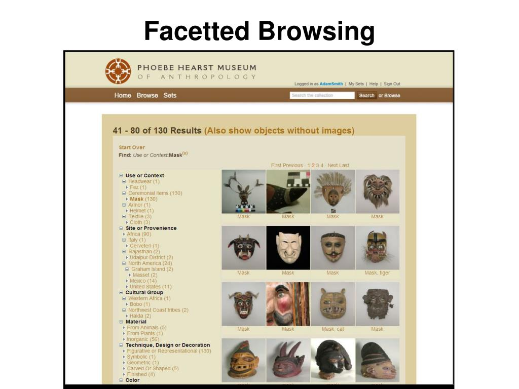 Facetted Browsing