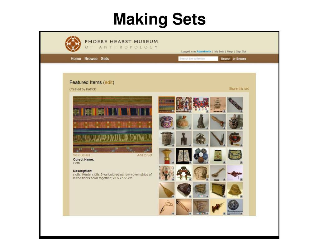 Making Sets
