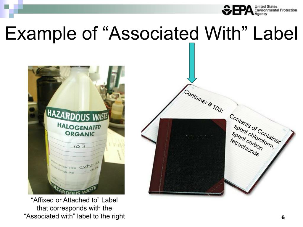 """Example of """"Associated With"""" Label"""