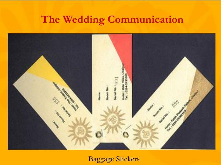 The Wedding Communication