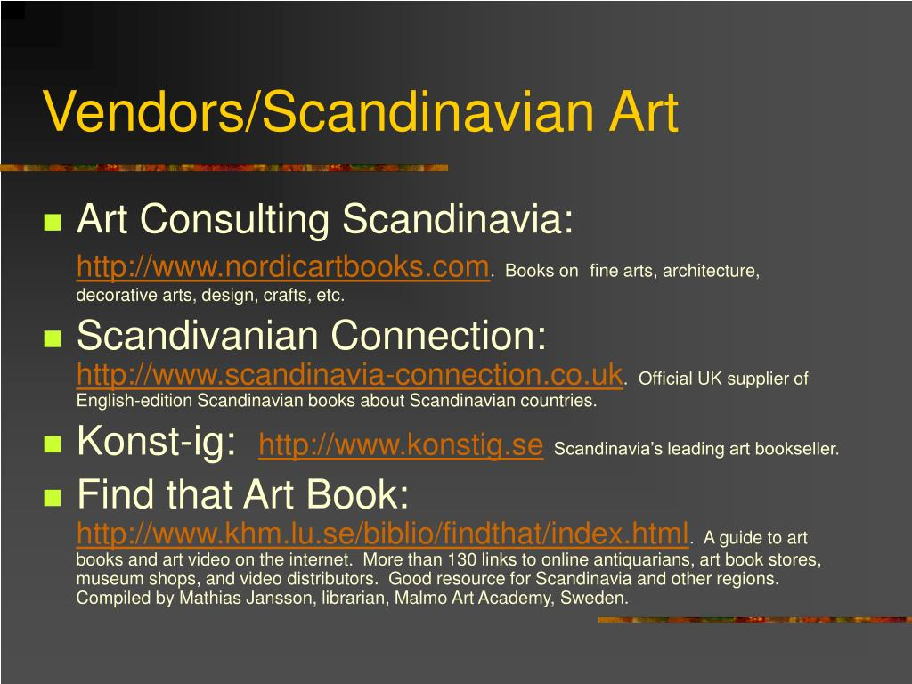 Vendors/Scandinavian Art