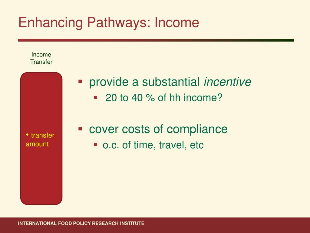 Enhancing Pathways: Income