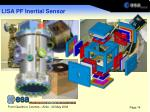 lisa pf inertial sensor