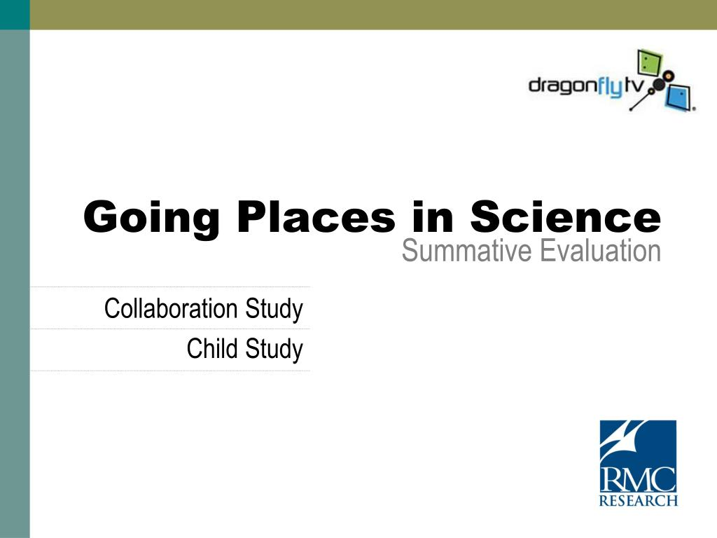 going places in science summative evaluation