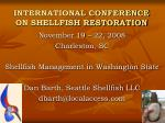 international conference on shellfish restoration