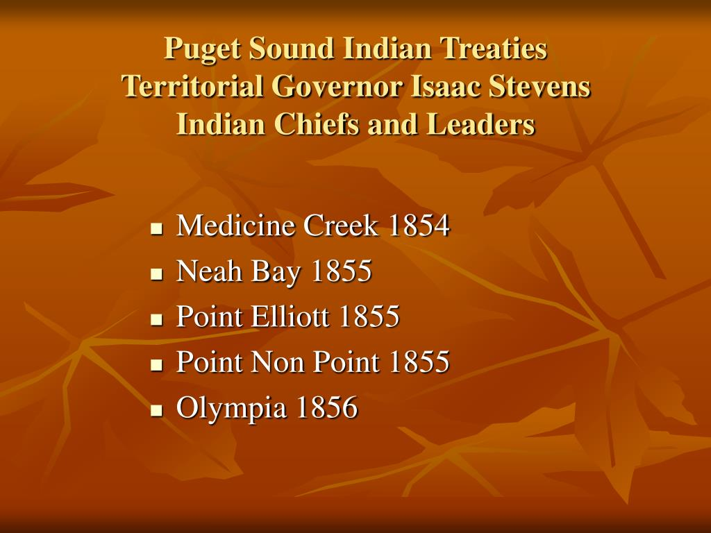 Puget Sound Indian Treaties