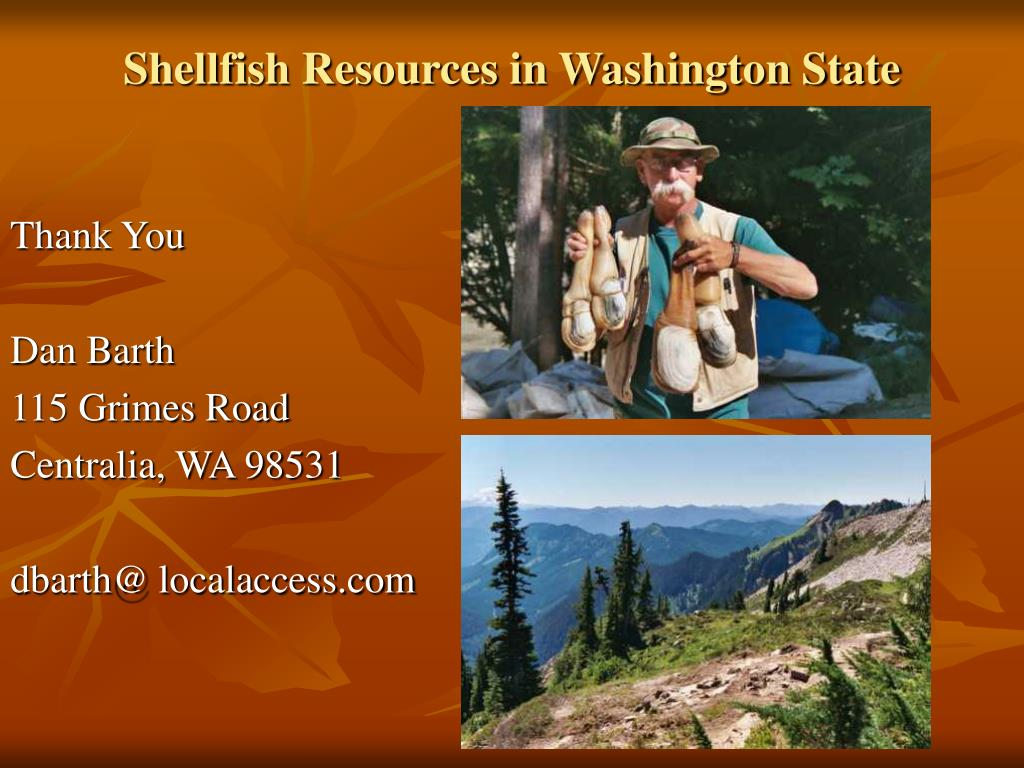 Shellfish Resources in Washington State