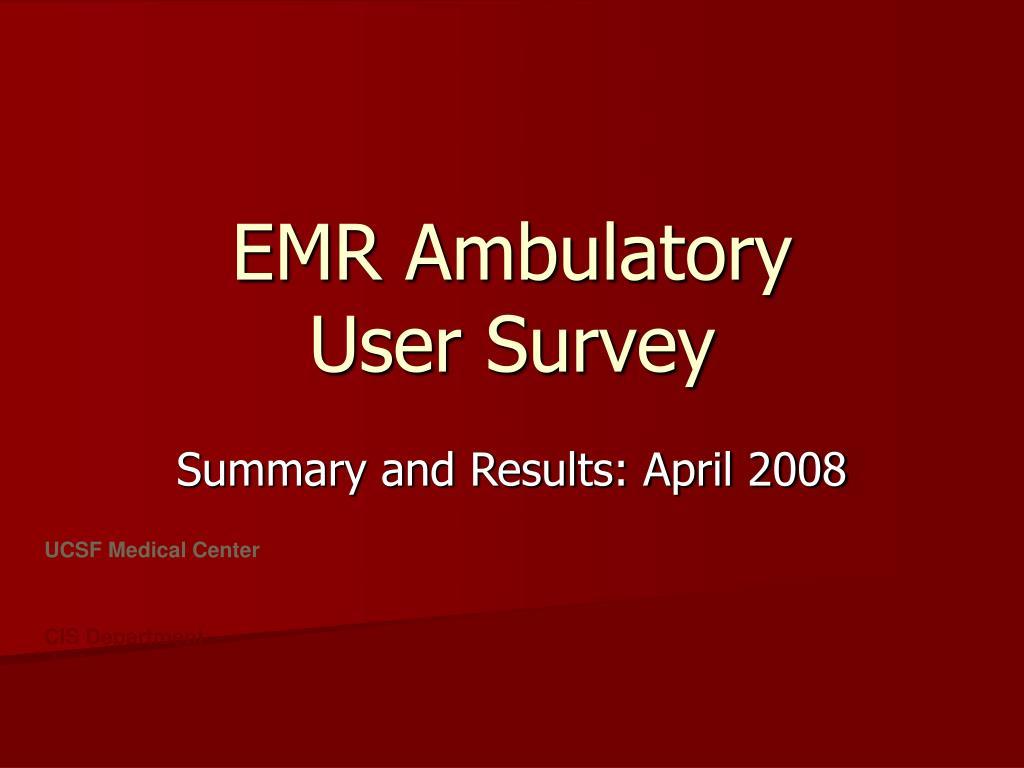 EMR Ambulatory