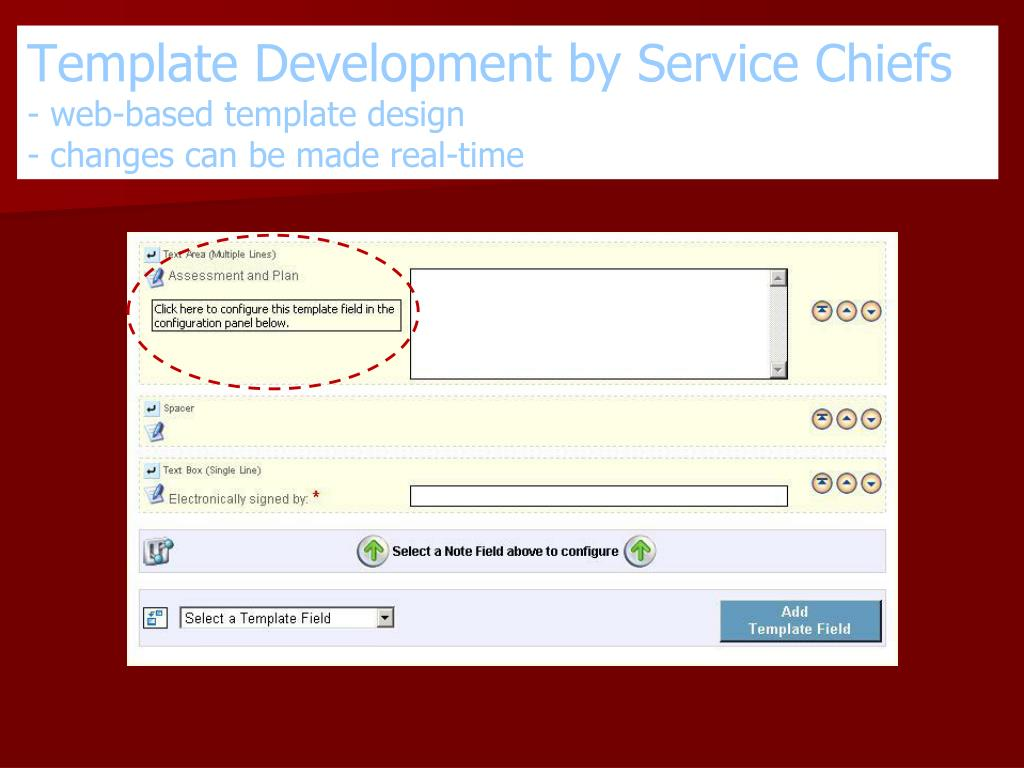 Template Development by Service Chiefs