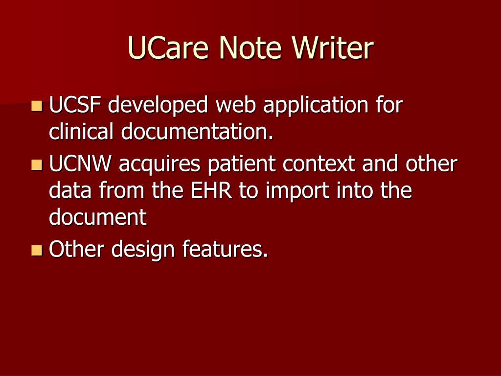 UCare Note Writer